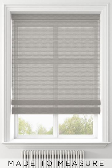 Pero Silver Grey Made To Measure Roman Blind