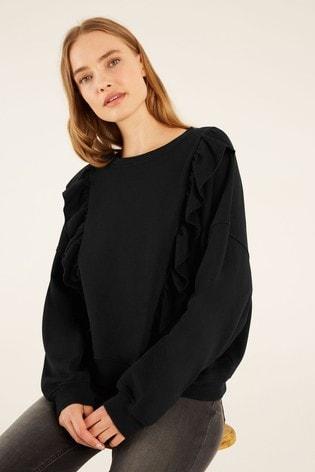 F&F Black Frill Detail Sweater