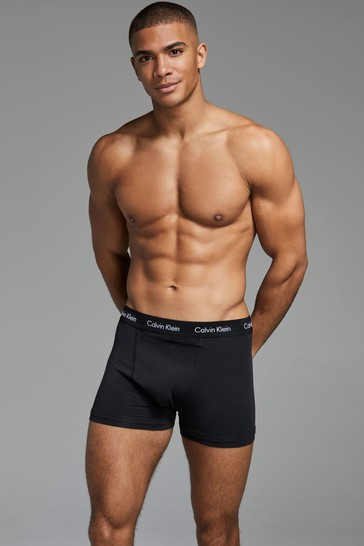 Calvin Klein Cotton Stretch Triple Black Trunks Three Pack