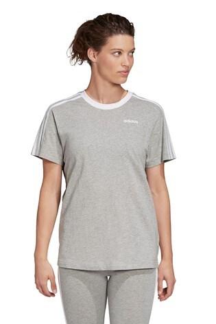 adidas Grey Essential Boyfriend Fit T-Shirt