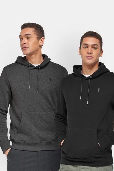 Black/Charcoal 2 Pack Overhead Jersey Hoodies