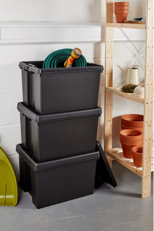 Set of 3 Bam 45L Heavy Duty Recycled Boxes by Wham