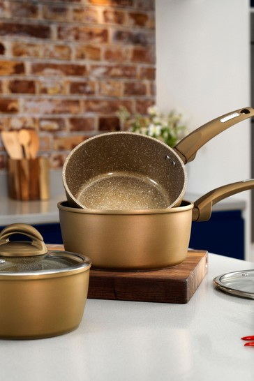 3 Piece Forged Stainless Steel Pan Set by Tower