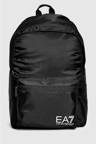 Emporio Armani EA7 Black Backpack