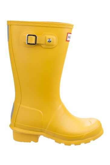 Hunter Yellow Original Kids Wellington Boots