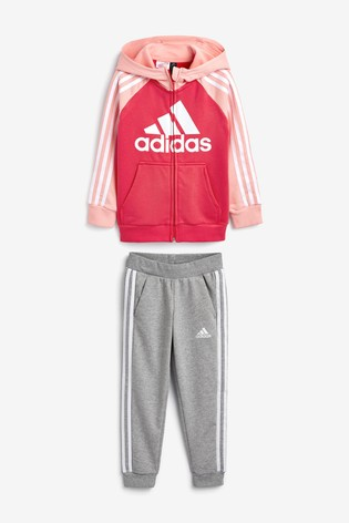 Buy adidas Little Kids Pink Tracksuit from Next Estonia