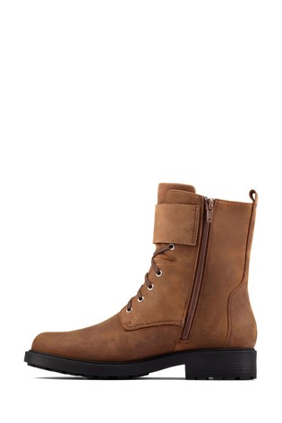 Clarks Brown Snuff Orinoco2 Lace Boots