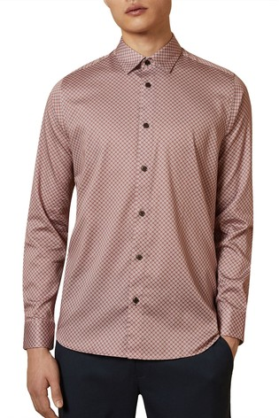 Ted Baker Pink Flynow Geo Print Shirt