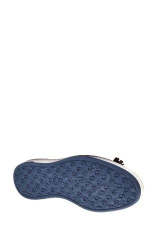 Base London® Blue Pogo Burnished Slip-On Loafers