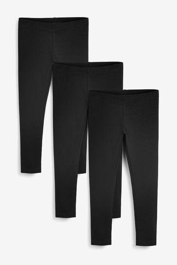 Black 3 Pack Leggings (3-16yrs)