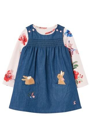 Joules Blue Peter Rabbit Avie Pinafore Dress