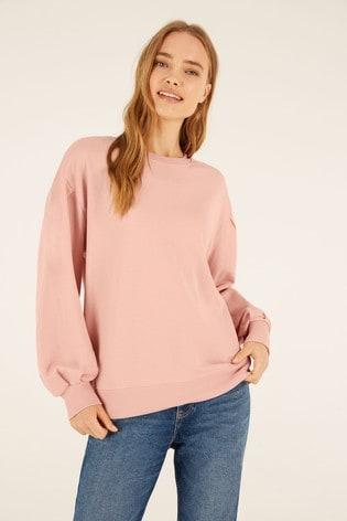 F&F Pink Sweat Balloon Sleeve Sweater