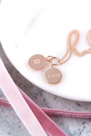 Personalised Pendant Necklace by Oh So Cherished