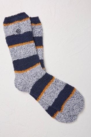 FatFace Yellow Stripe Idaho Socks