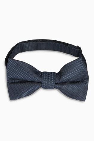 Navy Textured Bow Tie