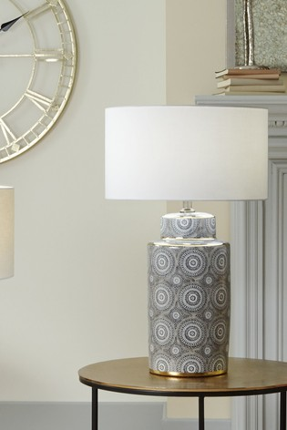 Kari Circle Pattern Ceramic Table Lamp by Pacific