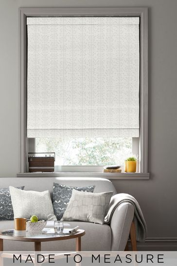 Muscat Small Moonstone Grey Made To Measure Roman Blind by MissPrint
