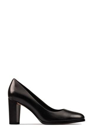 Clarks Black Leather Kaylin Cara 2 Shoes