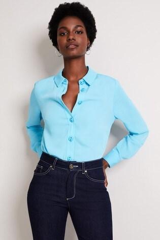 Damsel In A Dress Blue Asha Shirt