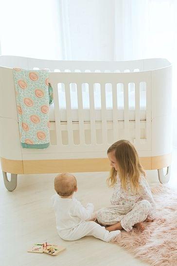 Gaia Baby Complete Sleep+ Mini And  Dresser Set White/Natural