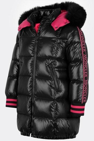 Girls Black Down Padded Fatale Coat