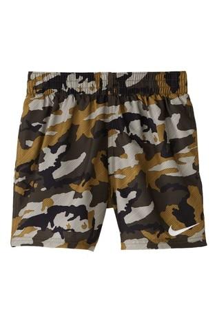 "Nike Camo 4"" Volley Swim Shorts"