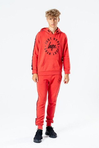 Hype. Red Taped Kids Tracksuit Set