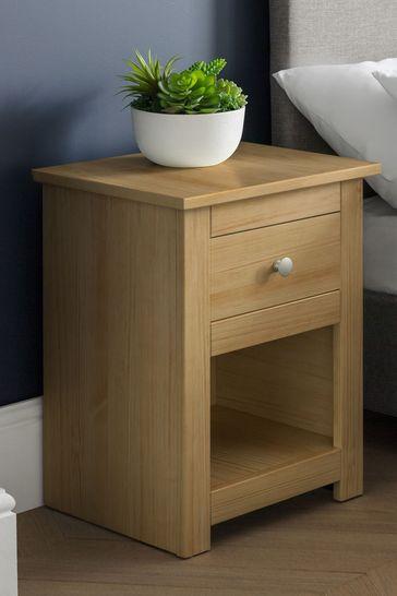 Julian Bowen Radley Waxed Pine Bedside Table