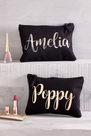 Personalised Small Make-Up Bag by Loveabode