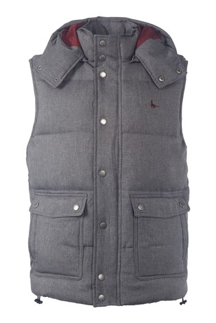 Jack Wills Charcoal Firstone Gilet