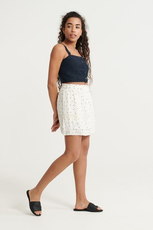 Superdry Ellison Textured Lace Skirt