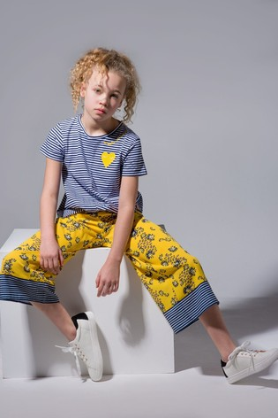 Angel & Rocket Yellow Floral Culottes