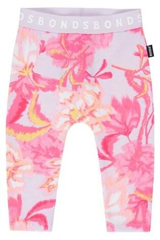 Bonds Blurred Blooms Pink Leggings