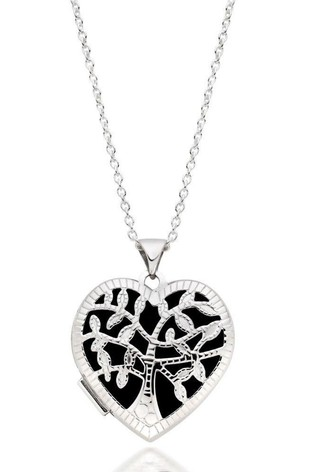 Beaverbrooks Silver Tree Heart Locket