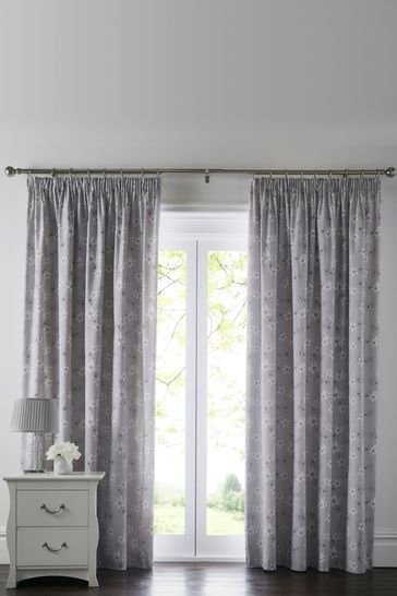 Freya Peony Print Pencil Pleat Curtains by D&D
