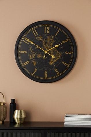 Map Print Wall Clock