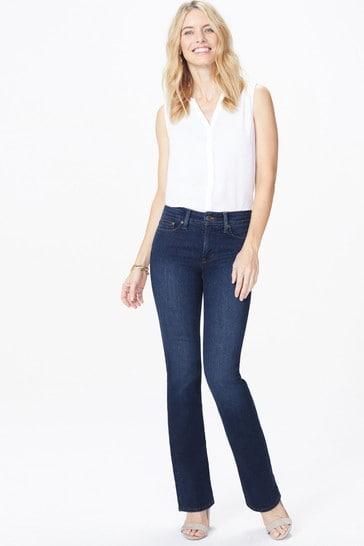 NYDJ Mid Blue Denim Barbara Cooper Boot Cut Jeans