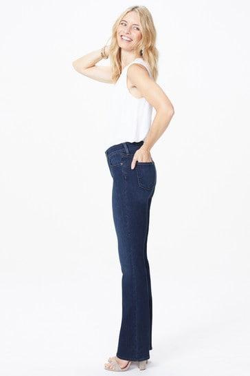 NYDJ Mid Blue Denim Barbara Boot Cut Jeans