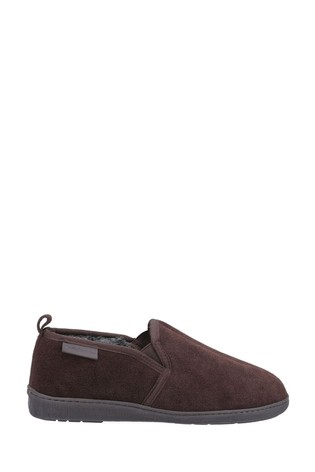 Hush Puppies Brown Arnold Slippers