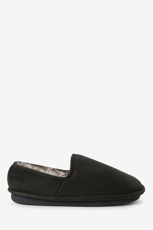 Black Close Back Slippers