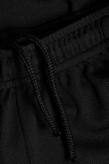 Black Football Shorts (3-16yrs)