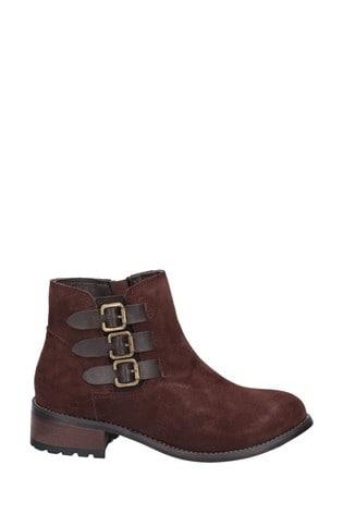 Divaz Lexi Slip On Buckle Boots