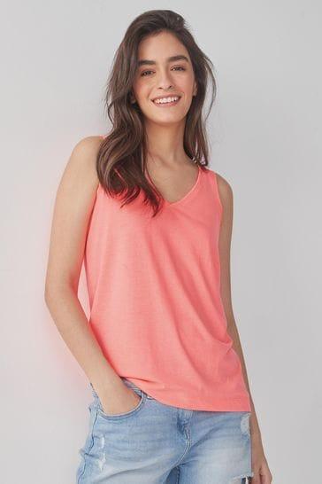 Fluro Coral Pink Slouch Vest