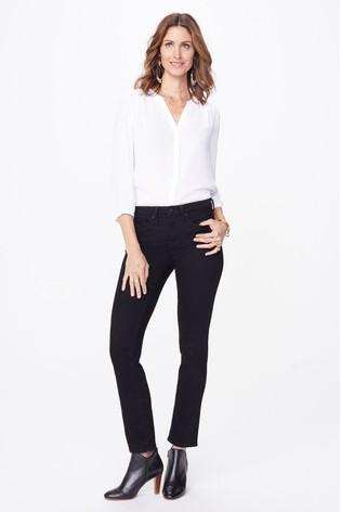 NYDJ Black Sheri Slim Leg Jeans