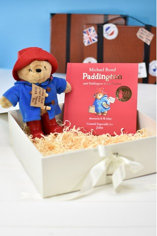 Personalised Paddington Story Book And Plush Toy Gift Set by Signature Book Publishing