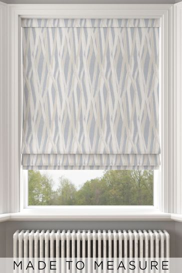 Ayers Sky Blue Made To Measure Roman Blind