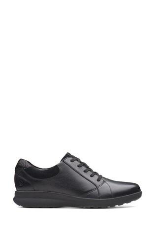 Clarks Black Combi Un Adorn Lace Shoes