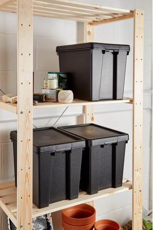 Set of 3 Bam 24L Heavy Duty Recycled Boxes by Wham