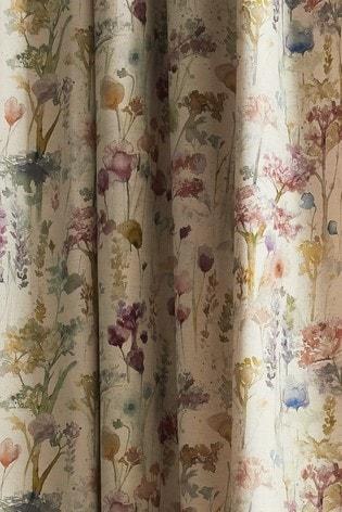 Voyage Ilinizas Floral Lined Pencil Pleat Curtains