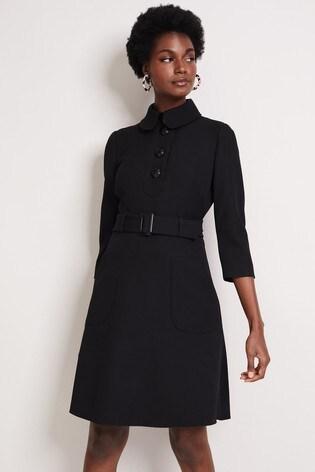Damsel In A Dress Black Adie Button Detail Dress